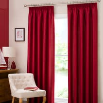 Red Dakota Lined Pencil Pleat Curtains