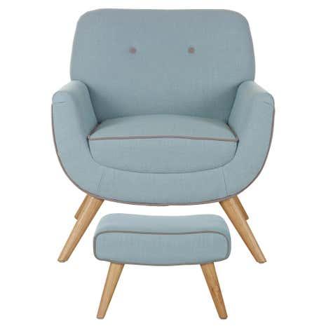 Skandi Duck Egg Armchair And Footstool Dunelm