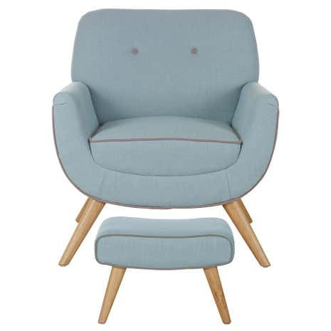 Skandi Duck-Egg Armchair and Footstool