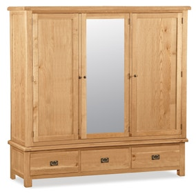 Aylesbury Oak Large Triple Wardrobe