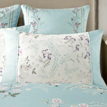 Dorma Duck Egg Maiya Double Cuff Pillowcase