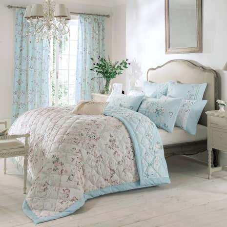Dorma Maiya Duck Egg Bedspread   Dunelm : dorma quilted bedspreads - Adamdwight.com