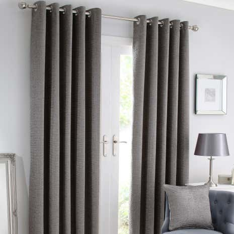 Brisbane Silver Lined Eyelet Curtains