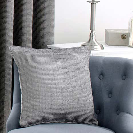 Brisbane Silver Piped Filled Cushion