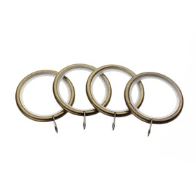 Swish Curzon Pack of 4 Antique Brass Curtain Rings