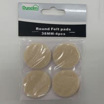 Pack of 4 38mm Round Felt Pads