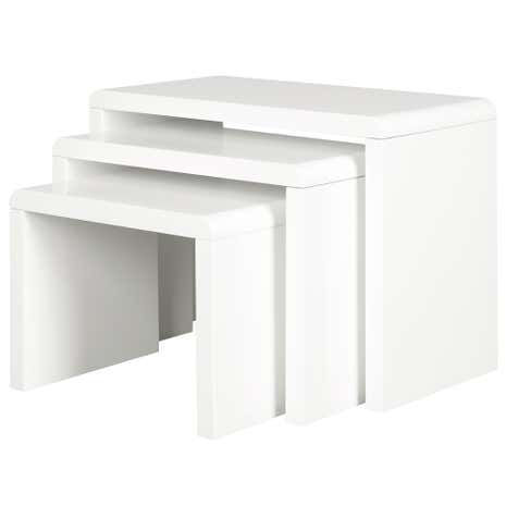 Soho White Gloss Nest of Tables