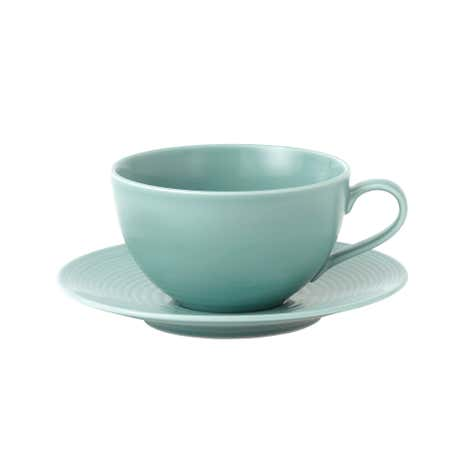 Gordon Ramsay Teal Maze Breakfast Cup and Saucer