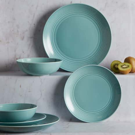 Gordon Ramsay Teal Maze 12 Piece Dining Set