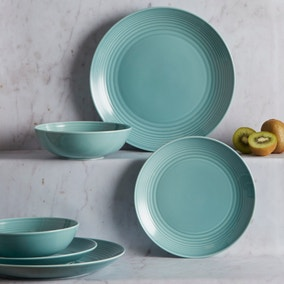 Gordon Ramsay by Royal Doulton Teal Maze 12 Piece Dining Set