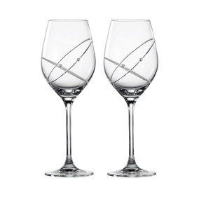 Royal Doulton Promises With This Ring Pair of Wine Glasses