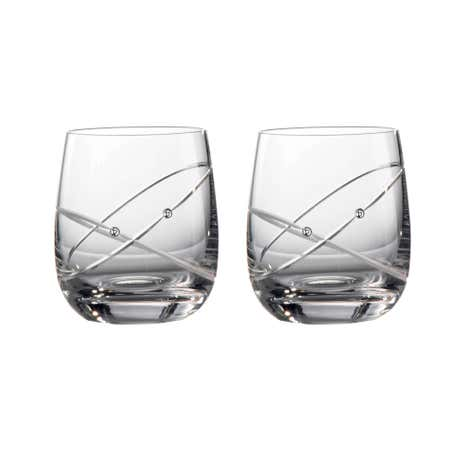 Royal Doulton Promises With This Ring Pair of Toasting Tumbler Glasses