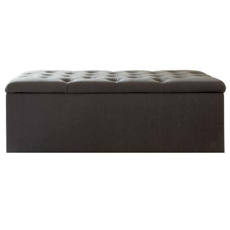 Antoinette Charcoal Large Bed Ottoman