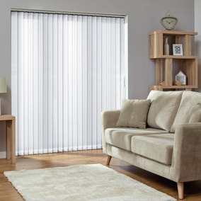 White Cordless Vertical Blind
