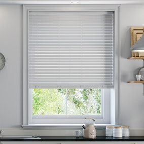 White Faux Wood Cordless Venetian Blind