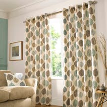 Duck Egg Regan Lined Eyelet Curtains