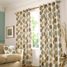 Regan Duck-Egg Lined Eyelet Curtains