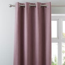 Solar Mauve Blackout Eyelet Curtains