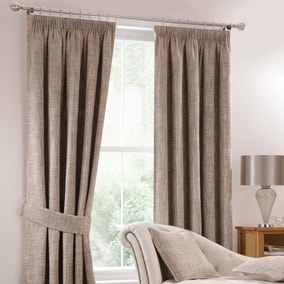 Lorenza Mink Lined Pencil Pleat Curtains