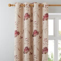 Red Amelia Lined Eyelet Curtains