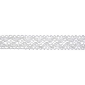 Bowtique White Lace Wave Ribbon