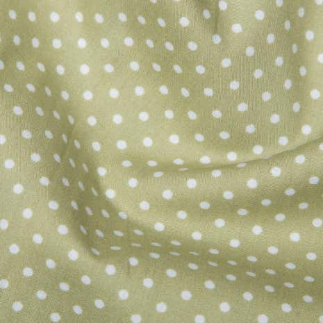 Green Polka Dots Cotton Poplin