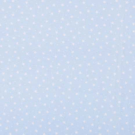 Powder Blue Stars Cotton Poplin