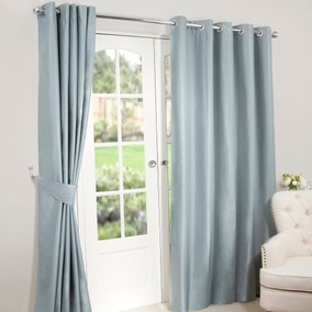 Nova Duck-Egg Blackout Eyelet Curtains