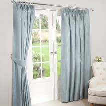 Duck Egg Nova Blackout Pencil Pleat Curtains