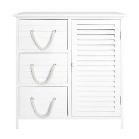 Nautical 3 Drawer and Cabinet Unit