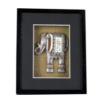 Shadow Box With Elephant