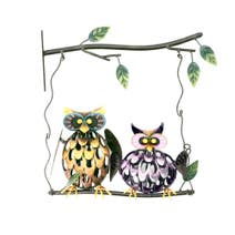 Swinging Owls Outdoor Wall Art