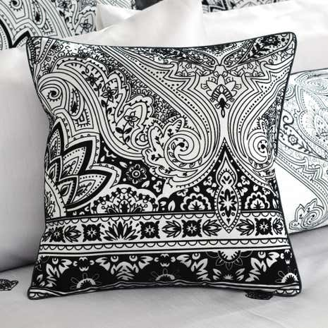 Deco Flock Grey Square Cushion