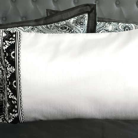 Deco Flock Grey Housewife Pillowcase