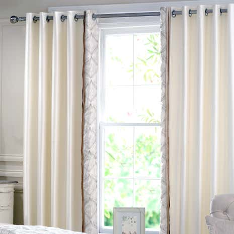 Lalique Champagne Thermal Eyelet Curtains