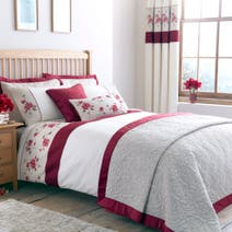 Red Country Rose Duvet Cover