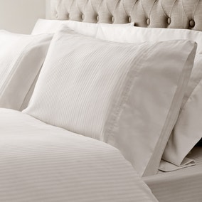 Hotel Morgan Stripe White Cuffed Pillowcase