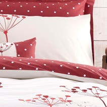 Red Cow Parsley Housewife Pillowcase