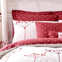 Red Cow Parsley Oxford Pillowcase