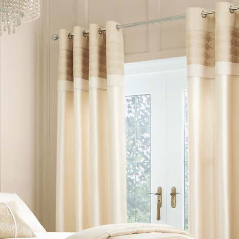 Gatsby Gold Thermal Eyelet Curtains