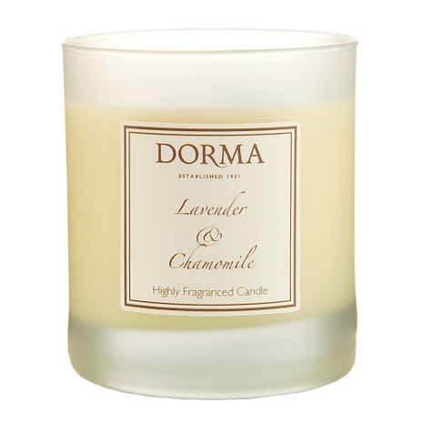 Dorma Lavender and Chamomile Wax Filled Glass Candle