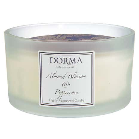 Dorma Almond Blossom and Peppercorn Wide Glass Candle