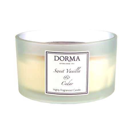 Dorma Sweet Vanilla and Cedar Wide Glass Candle
