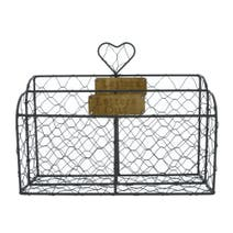 Brown Wire Letter Rack