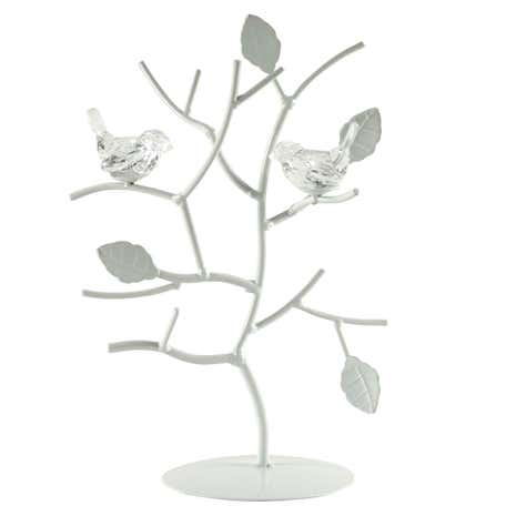 Flora and Fauna White Jewellery Stand