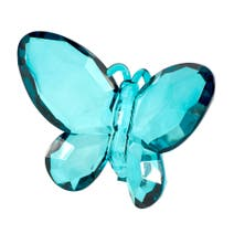 Flora and Fauna Teal Butterfly