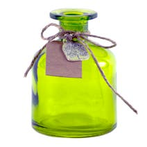 Rustic Ramble Green Glass Bottle with Charm