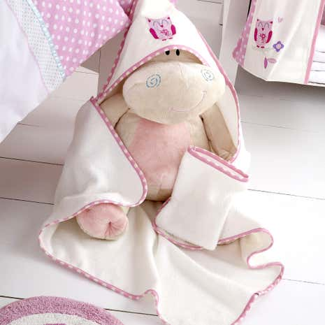 Darling Deer Nursery Cuddle Robe and Mitt