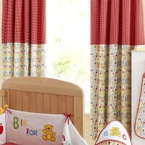 Loveable Letters Nursery Blackout Pencil Pleat Curtains