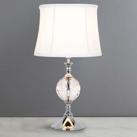 lara crystal ball table lamp dunelm. Black Bedroom Furniture Sets. Home Design Ideas